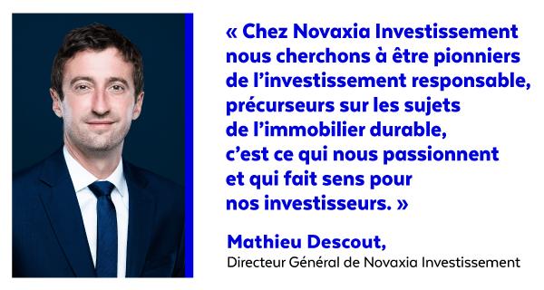 Labellisation ISR de NEO - Déclaration Mathieu Descout