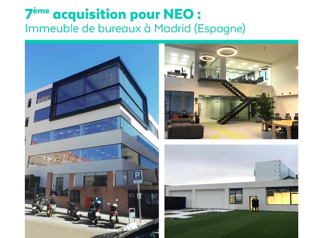 Nouvelle acquisition NEO à Madrid